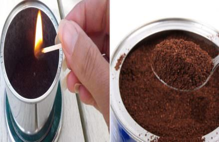 He Burns Coffee Grounds In His Backyard. The Reason Why Is Genius!